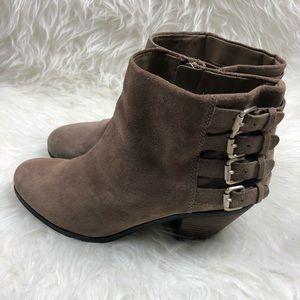 Sam Edelman Shoes - Sam Edelman Taupe Buckle Ankle Boots
